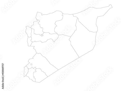 Murais de parede Political map of Syria