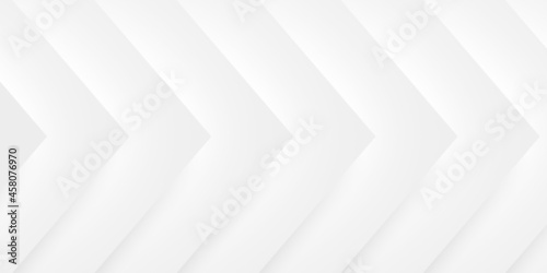 Modern minimal white shifted triangle geometrical pattern background left to right flat lay top view from above