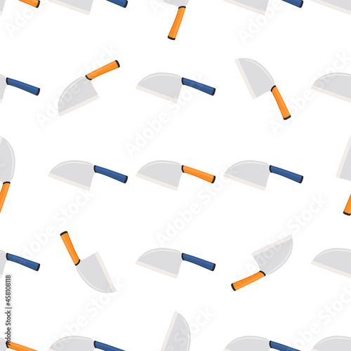 Illustration on theme pattern steel axes with wooden handle Fototapet