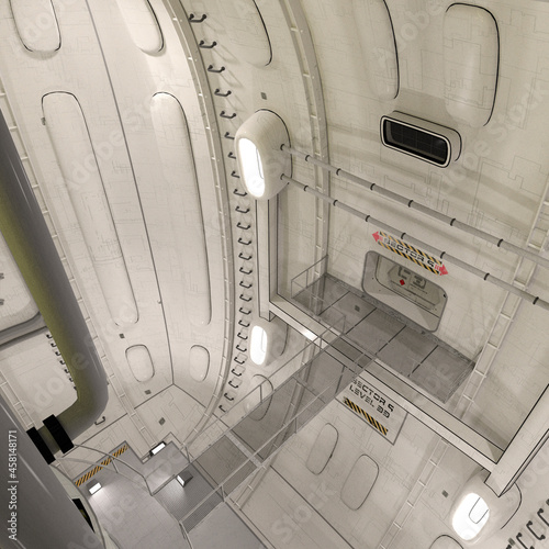 Платно 3D-illustration of an reactor room in a science fiction starship