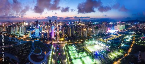 Aerial photography China Rizhao city architecture landscape coastline