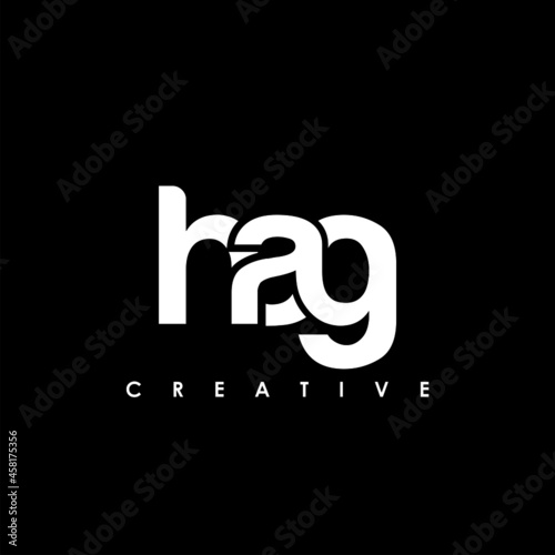 Fotografie, Tablou HAG Letter Initial Logo Design Template Vector Illustration