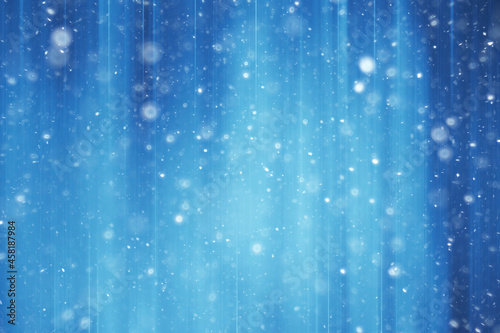 Fototapeta blue snow lines background / abstract background christmas blue snowflakes blurr