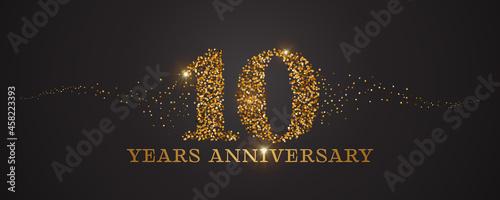 Billede på lærred 10 years anniversary vector icon, logo