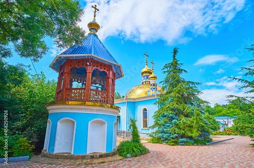 The church and belfry of Archangel Michael Nunnery, Odessa, Ukraine Tapéta, Fotótapéta