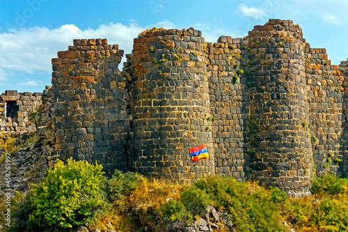 Fototapeta A historical complex on the slope of Mount Aragats in Armenia