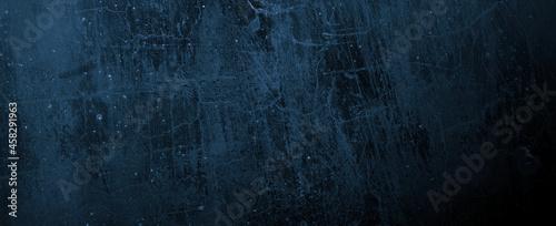 Obraz na plátně Navy Blue Cement Background