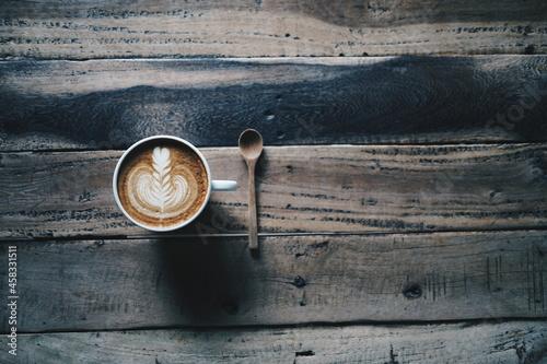 Tela High Angle View Of Coffee On Table