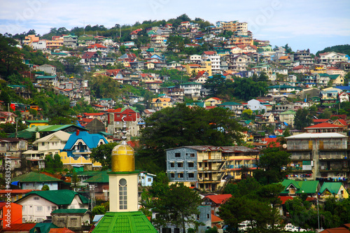 House Infested Mountains Of Baguio City. Fototapeta