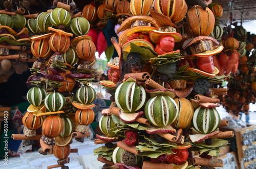 Obraz na plátně Various Displayed For Sale At Market Stall