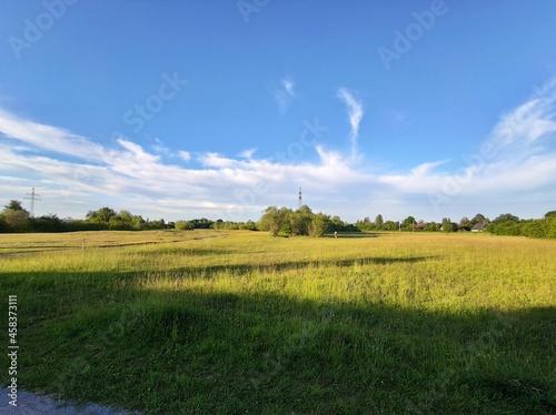 Obraz na plátně Scenic View Of Field Against Sky