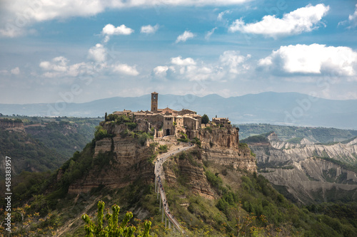 Fotografie, Obraz Eerie scenery of Civita di Bagnoregio hilltop village in central Italy