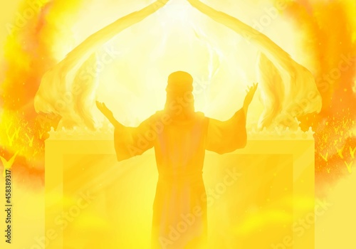 Wallpaper Mural Jesus as High Priest in the heavenly sanctuary