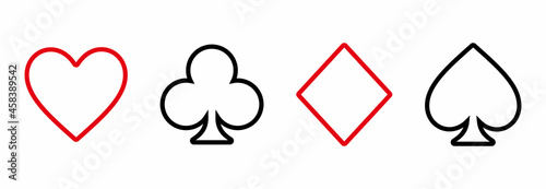 Fototapeta playing card icon, playing card vector sign symbol illustrations