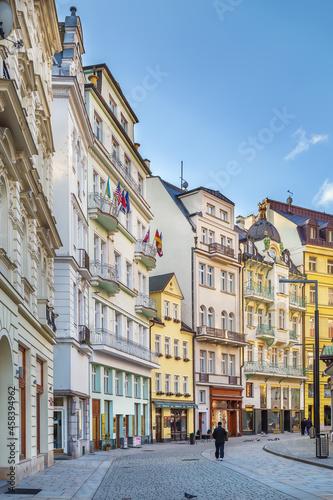 Fototapeta Street In Karlovy Vary City Center, Czech Republic