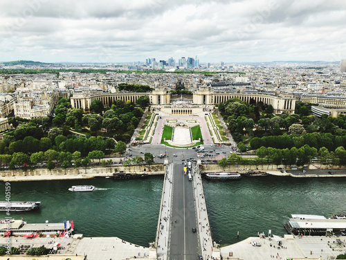 Canvastavla View From The Eiffel Tower In Paris