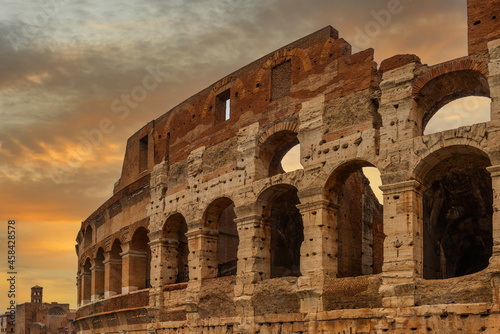 Fototapeta Roman colosseum on the background of the picturesque sky