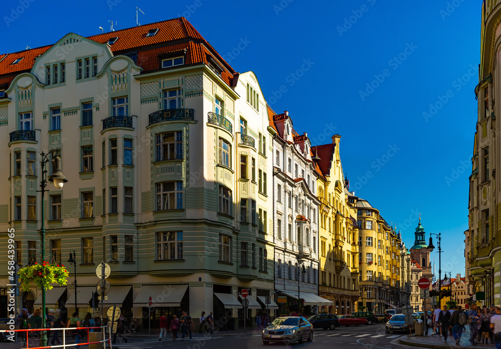 Picturesque streets of the city of Prague. Czech Republic