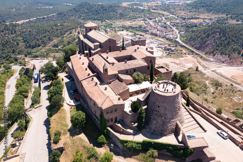 Stampa su Tela Scenic summer view from drone of medieval fortress with romanesque Church of San