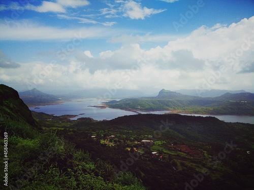 Obraz na plátně Scenic View Of Landscape Against Sky