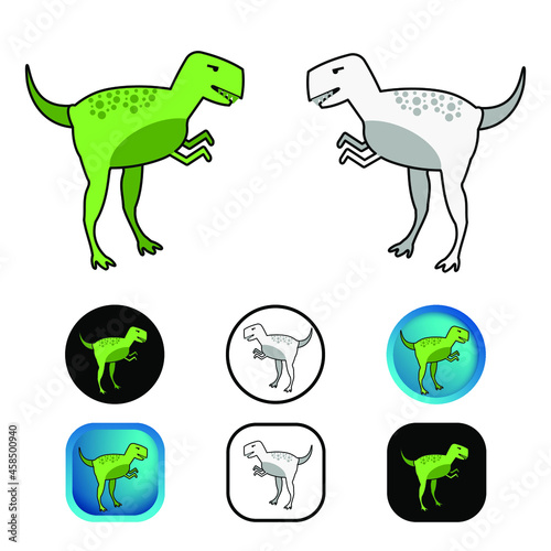 фотография Flat Gorgosaurus Dinosaur Icon Collection