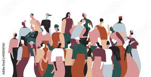 Fototapeta Gruppo di persone della comunità che parlano e interagiscono tra di loro
