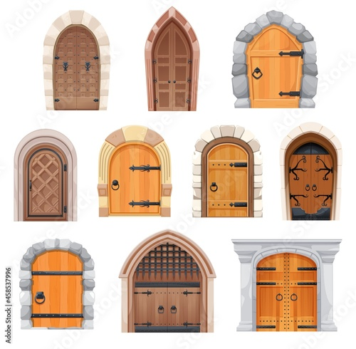 Metal and wooden medieval doors and gates Fototapet