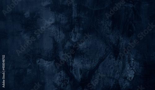 Obraz na plátně Beautiful Abstract Grunge Decorative Navy Blue Dark Wall Background