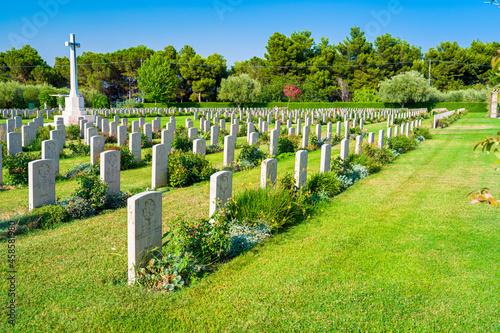 Obraz na plátně Canadian War Cemetery Moro River Ortona, Trabocchi Coast, Abruzzo, Italy - Tombs