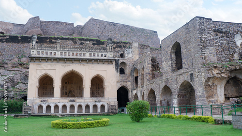 Fotografie, Obraz The Taramati Mosque, Golkonda fort, Hyderabad, Telangana, India