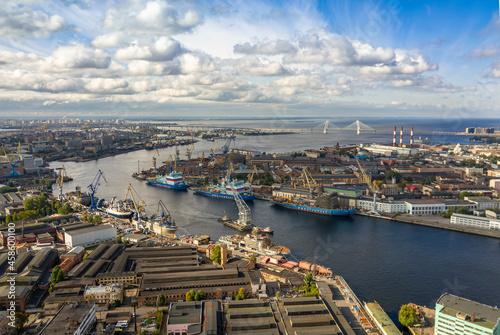 Fotografie, Obraz view of the shipyard in St. Petersburg, Russia, 2021