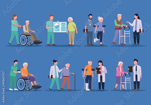 Fotografie, Obraz geriatrics doctors and olders