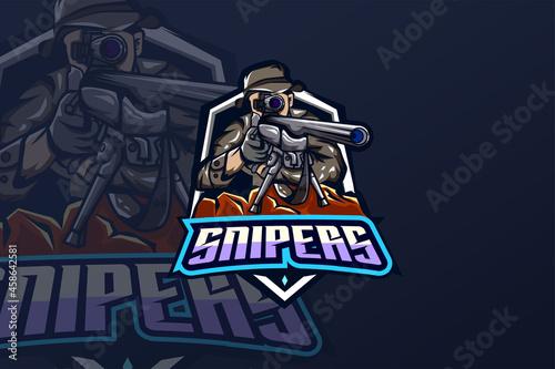 Fototapeta Snipers - Esport Logo Template