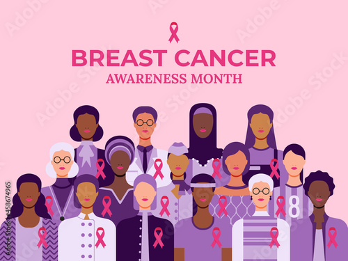 Canvas Print Breast cancer awareness month poster