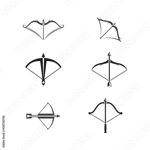 Obraz na plátně Crossbow Vector icon design illustration