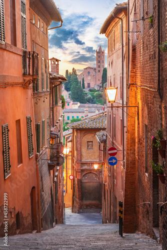 Fotografie, Obraz Siena, Tuscany - Downtown and Santa Maria dei Servi Church