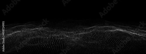 Fotografie, Obraz Futuristic digital wave
