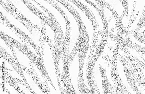 Pasy zebry, wzór w tonacji biało szarej. Grafika cyfrowa. Motyw na druk na tkaninie, ozdobny papier, tapetę, tło,, grafikę na ścianę.
