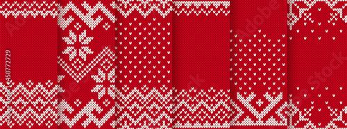 Fotografie, Obraz Christmas knit print