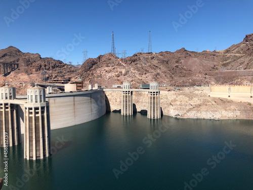 hoover dam, lake mead water level down Fototapeta