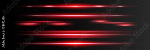 Fotografia, Obraz Red horizontal lens flares pack