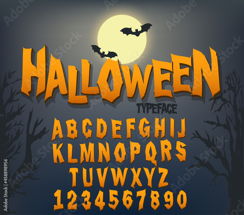 Photo Halloween font, Original Typeface, Scary creepy alphabet, Dirty Letters, for holiday party