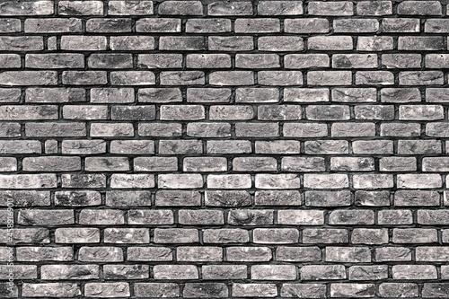 Canvas Print seamless black and white brick wall texture