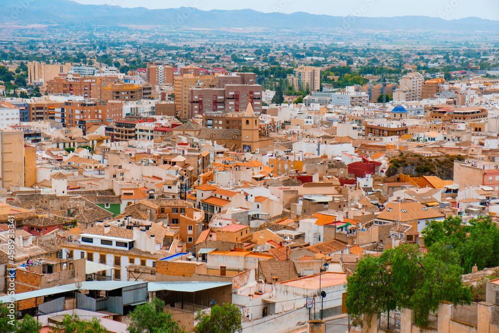 aerial view of Lorca, in Spain