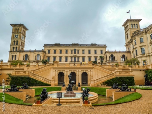 Photo Osborne House the beautiful gardens and palatial holiday home in Cowes on the Is