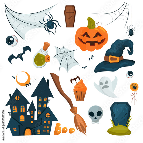 Obraz na plátne Vector set for halloween