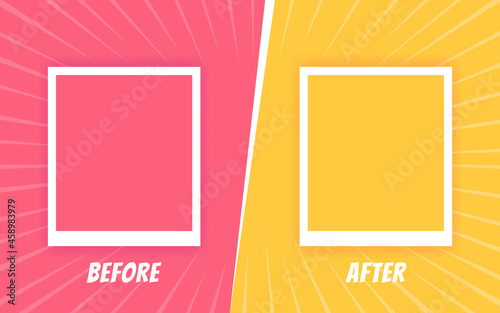 Fotografie, Obraz Before and after background template