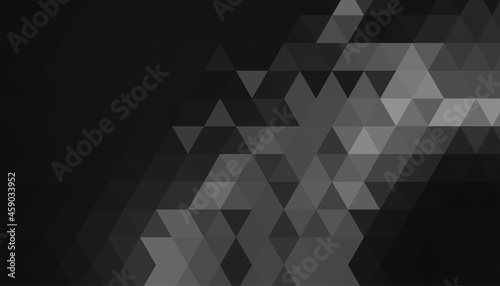 Fotografering black background with triangle geometric shapes