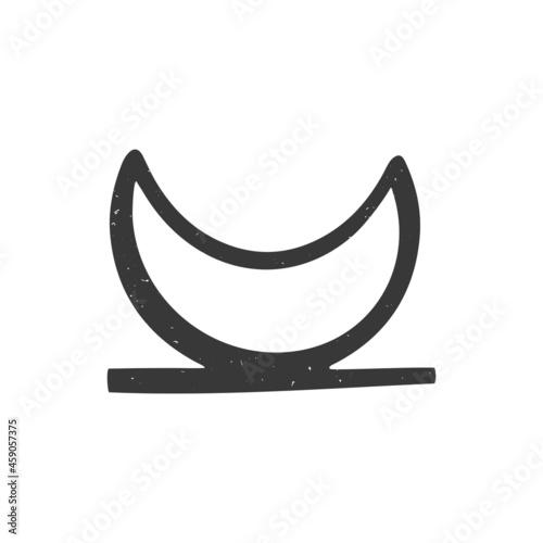 Fotografie, Obraz Ancient astrological, esoteric or alchemy symbol of moonrise