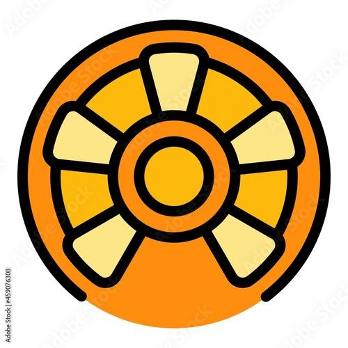 Fotografie, Obraz Steel circular stairs icon